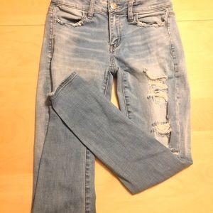 American eagle shirt cut jeans Sz 2